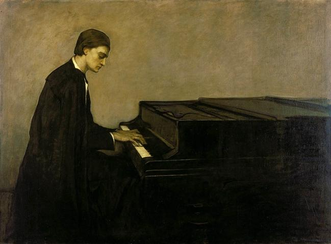 Bức Renata Borgatti at the Piano (1920)