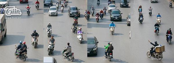 Bộ ảnh về văn hóa đi xe máy tại Hà Nội thu hút sự chú ý rất lớn từ cư dân mạng.