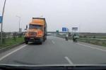 Container phóng ngược chiều cao tốc Hà Nội - Bắc Giang khiến nhiều người kinh hãi