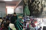 Chùa Hương 'thất thủ' ngày mùng 4 Tết, hàng vạn người chen chân chờ cáp treo lên động Hương Tích
