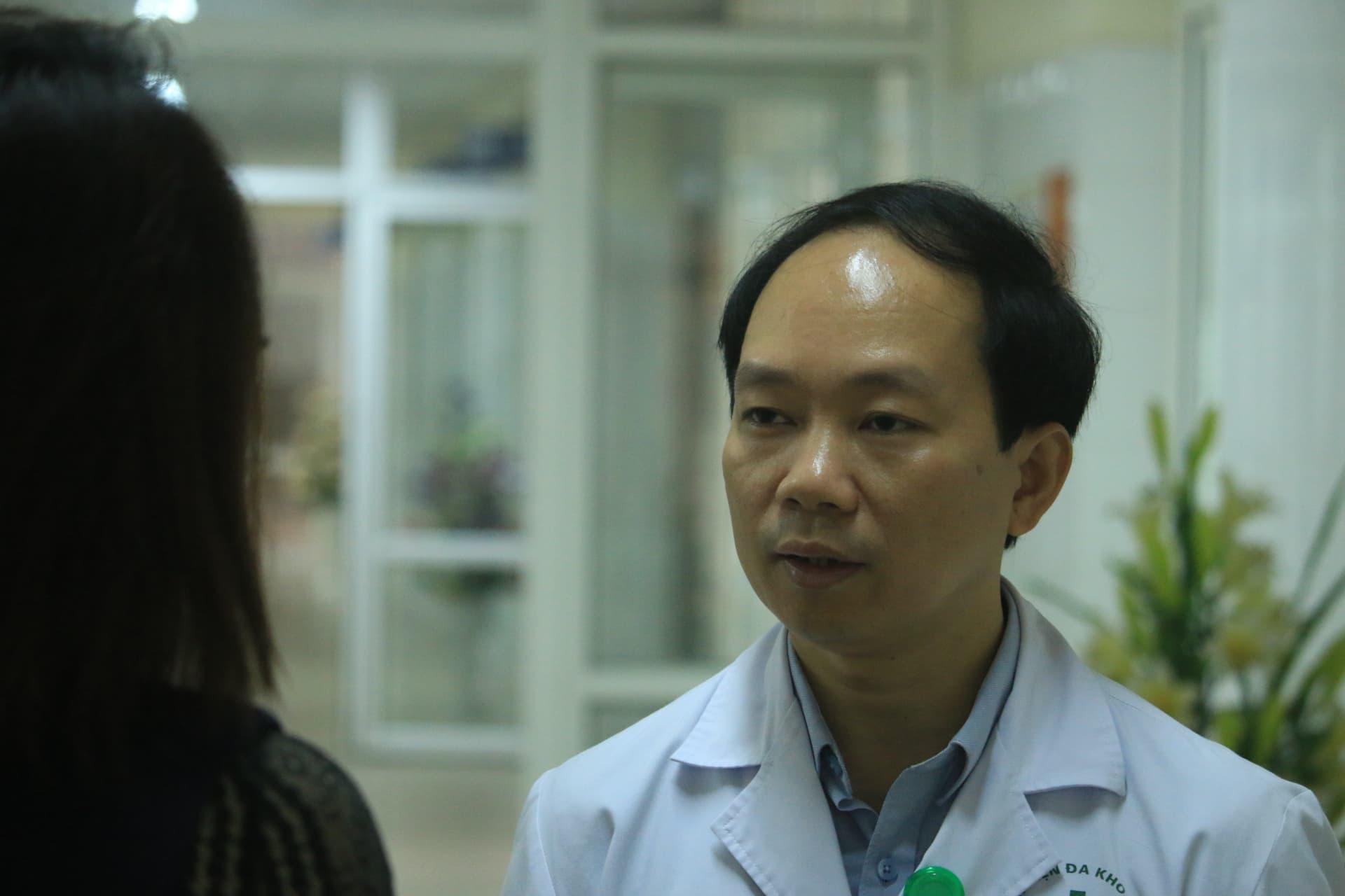 TS. Lê Quang Đức, Phó giám đốc Bệnh viện đa khoa tỉnh Hải Dương. Ảnh Công Luân.