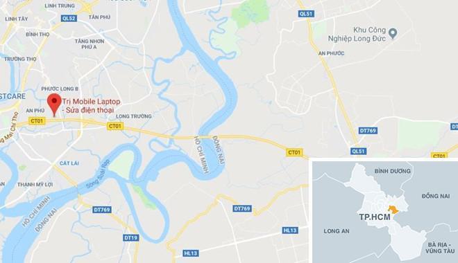 Khu vực gần nơi xảy ra vụ tai nạn. Ảnh: Google Maps.