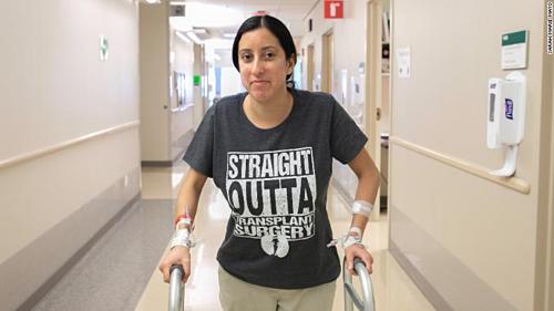 Nina Martinez trở thành người nhiễm HIV còn sống đầu tiên hiến tạng. Ảnh: CNN.