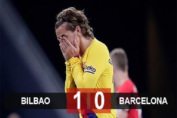 Bilbao 1-0 Barca: Nhà ĐKVĐ tay trắng ra về