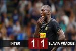 Inter 1-1 Slavia Prague: Lukaku 'tắt điện', Inter hòa hú vía