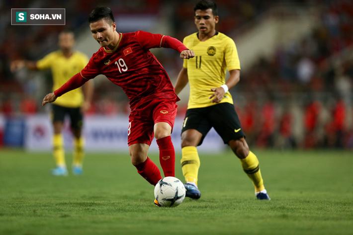 Quang Hải vẫn thể hiện được đẳng cấp của mình với pha ghi bàn duy nhất cho Việt Nam. Ảnh: Khánh Vy.