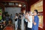 Ban Dự án Ngày Quốc Tổ Việt Nam toàn cầu làm việc tại Phú Thọ