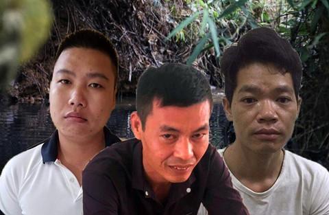 Lý Đình Vũ (giữa) và 2 đồng phạm. Ảnh: C.A.