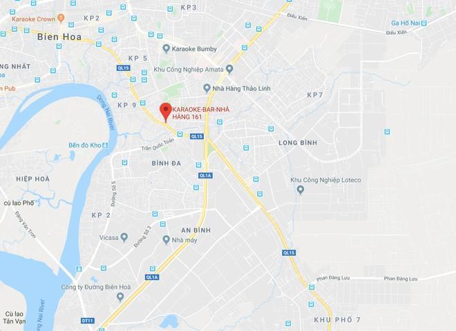 Vị trí quán karaoke 161. Ảnh: Google Maps.