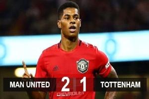 M.U 2-1 Tottenham: Rashford trổ oai phong, Mourinho thua trận đầu