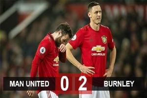 Kết quả M.U 0-2 Burnley: Thất bại đầu tiên sau gần 6 thập kỷ