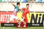 Yangon 2-2 TP.HCM: Công Phượng 'giải khát', TP.HCM giật lại 1 điểm quý giá từ chủ nhà Yangon