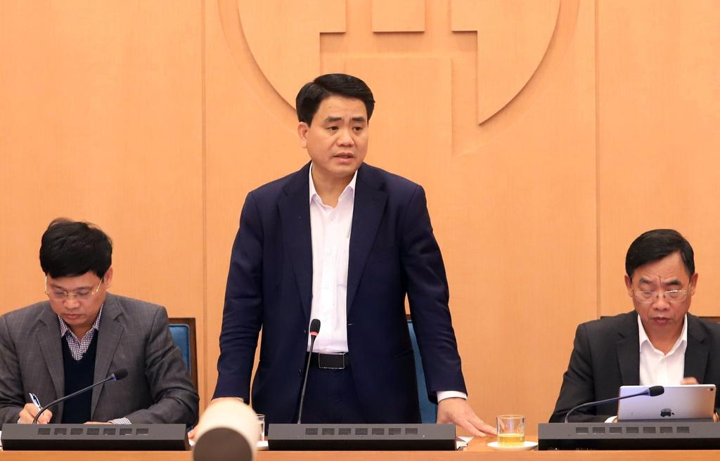 Chủ tịch UBND Hà Nội Nguyễn Đức Chung. Ảnh: Sơn Hà.