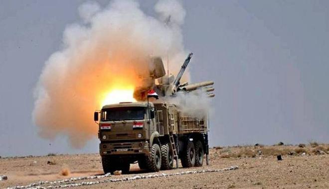 Tổ hợp phòng không Pantsir-S1 của Quân đội Syria. Ảnh: Topwar.ru.