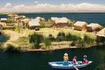 Nơi người dân sống trên đảo nổi dệt từ lau sậy