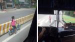 Bé gái đi xe đạp bị kẹt ở dải phân cách không thể sang đường, tài xế xe khách đã có hành động đặc biệt khiến dân mạng cảm kích