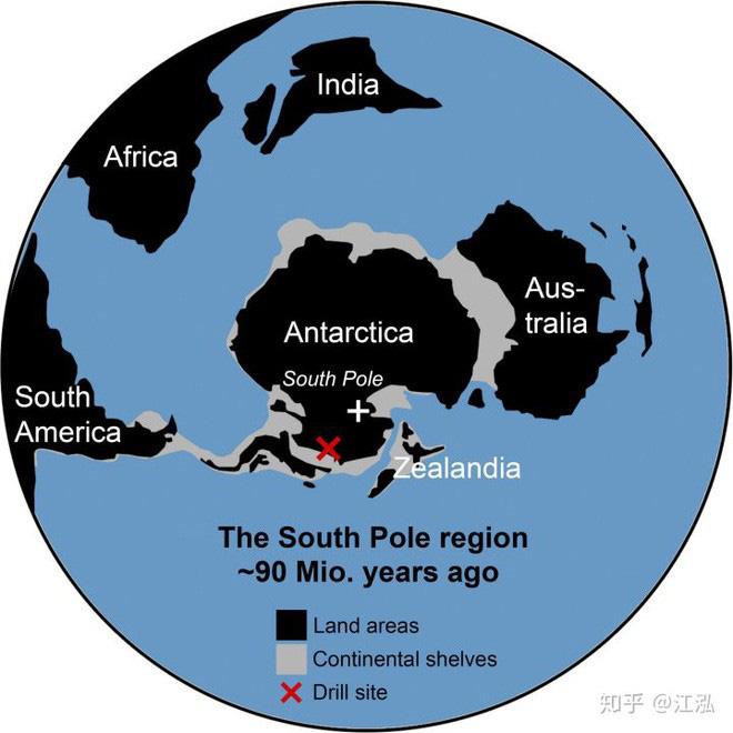 Nam bán cầu trong kỷ Phấn trắng, Nam Cực được kết nối với Úc.