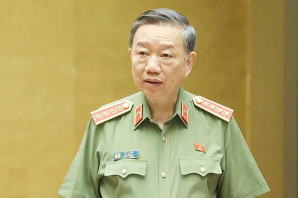 Bộ trưởng Công an Tô Lâm.