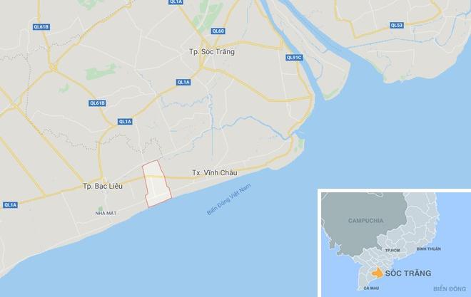 Xã Lai Hòa (khoanh đỏ). Ảnh:Google Maps.