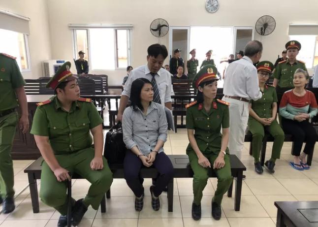 Nguyễn Ngọc Tâm Huyên tham gia phiên tòa với tâm trạng ổn định.