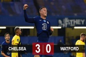 Kết quả Chelsea 3-0 Watford: Barkley thăng hoa, Chelsea đẩy M.U ra khỏi top 4