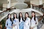 Dàn Hoa hậu, Á hậu khoe sắc vóc tươi trẻ, gợi cảm với áo dài tại đảo Lý Sơn