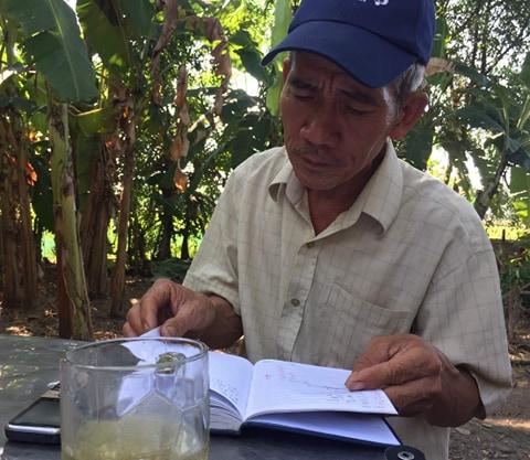 Ông Phan Duy Chiến, cha ruột của em C., chia sẻ với phóng viên.