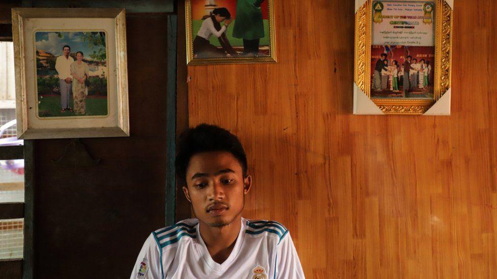 Si Thu Phyo đã mất 7 người bạn thân trong vụ sập mỏ ngày 2/7. Ảnh: BBC.