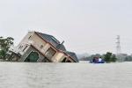 Lũ dâng làm vỡ bờ hồ lớn nhất Trung Quốc, nông dân trắng tay