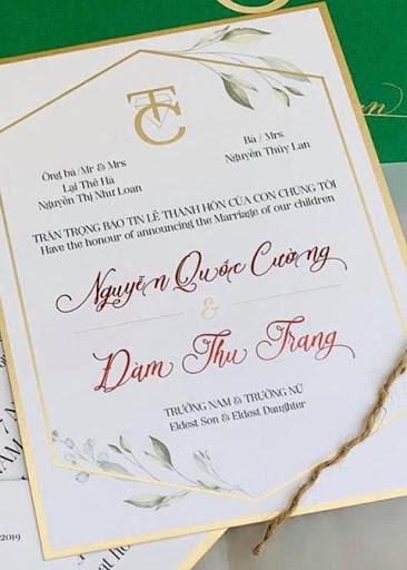 Tên ông Lại Thế Hà xuất hiện trong thiệp cưới của doanh nhân Nguyễn Quốc Cường - Đàm Thu Trang.