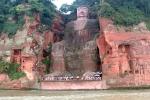 Lũ dâng, tượng Phật lớn nhất thế giới ở Trung Quốc dừng đón khách