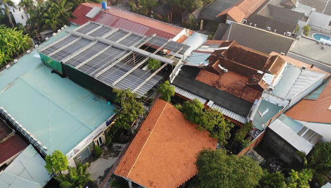 Tổ hợp Gia Trang Quán - Tràm Chim Resort (xã Tân Quý Tây, huyện Bình Chánh) vi phạm trật tư xây dựng đến nay vẫn chưa cưỡng chế xong - Ảnh: Lê Phong