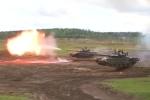 Xe tăng T-72B3M khai hỏa trong lễ kỷ niệm