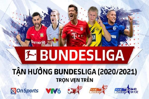 Bundesliga được phát trực tiếp trên VTV