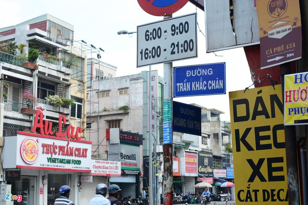 Tuyến đường mang tên gọi Trần Khắc Chân (tên đúng là Trần Khát Chân) từ năm 1955 đến nay. Ảnh: P.T.
