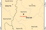 Liên tiếp xảy ra 2 trận động đất tại Quảng Ngãi trong sáng nay