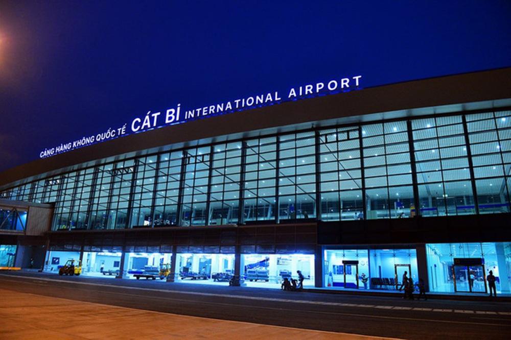 Sân bay quốc tế Cát Bi, nơi Vượng và Thủy thực hiện hành vi cắt trộm cáp điện tín hiệu đường cất hạ cánh sân bay.