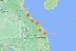 Hình ảnh lũ lụt các tỉnh miền Trung nhìn trên Google Maps