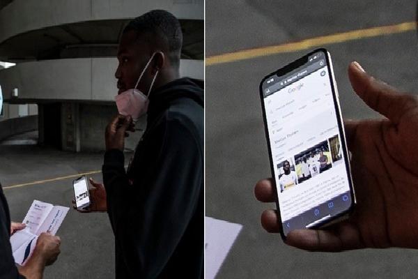 Bất cẩn quên sạch giấy tờ khi đến sân, sao bóng đá đành phải mở điện thoại nhờ 'chị Google' và nhận về cái kết cực may mắn