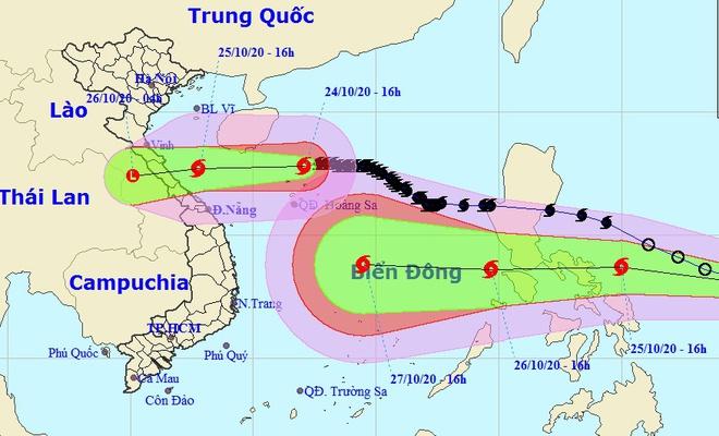 Trong khi bão số 8 chuẩn bị đổ bộ đất liền các tỉnh Hà Tĩnh - Quảng Trị, một áp thấp nhiệt đới khác khả năng mạnh thành bão và đi vào Biển Đông ngày 26/10. Ảnh: NCHMF.