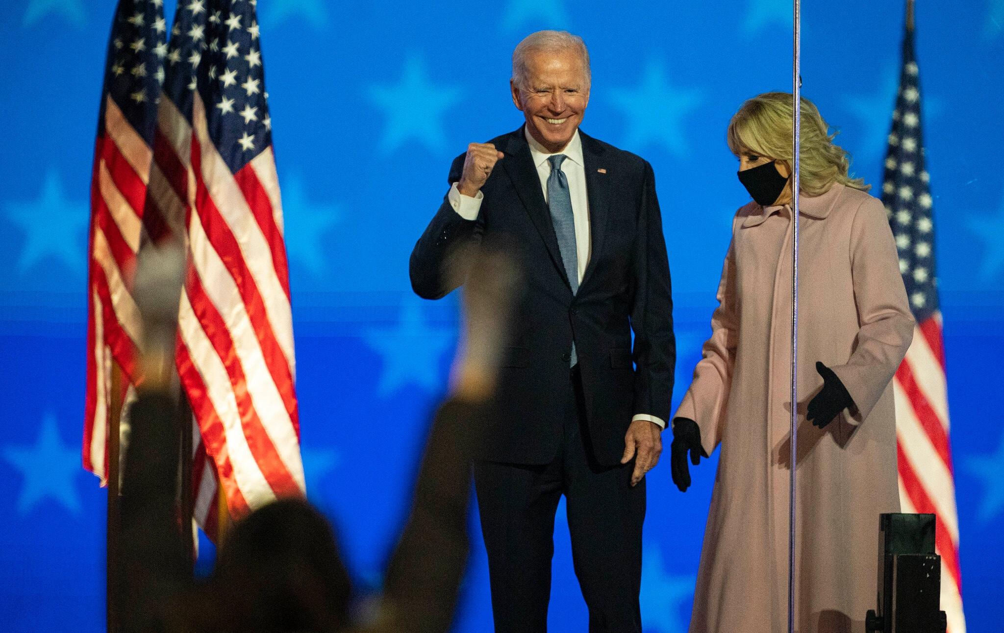 Ông Joe Biden và phu nhân. Ảnh: AP.