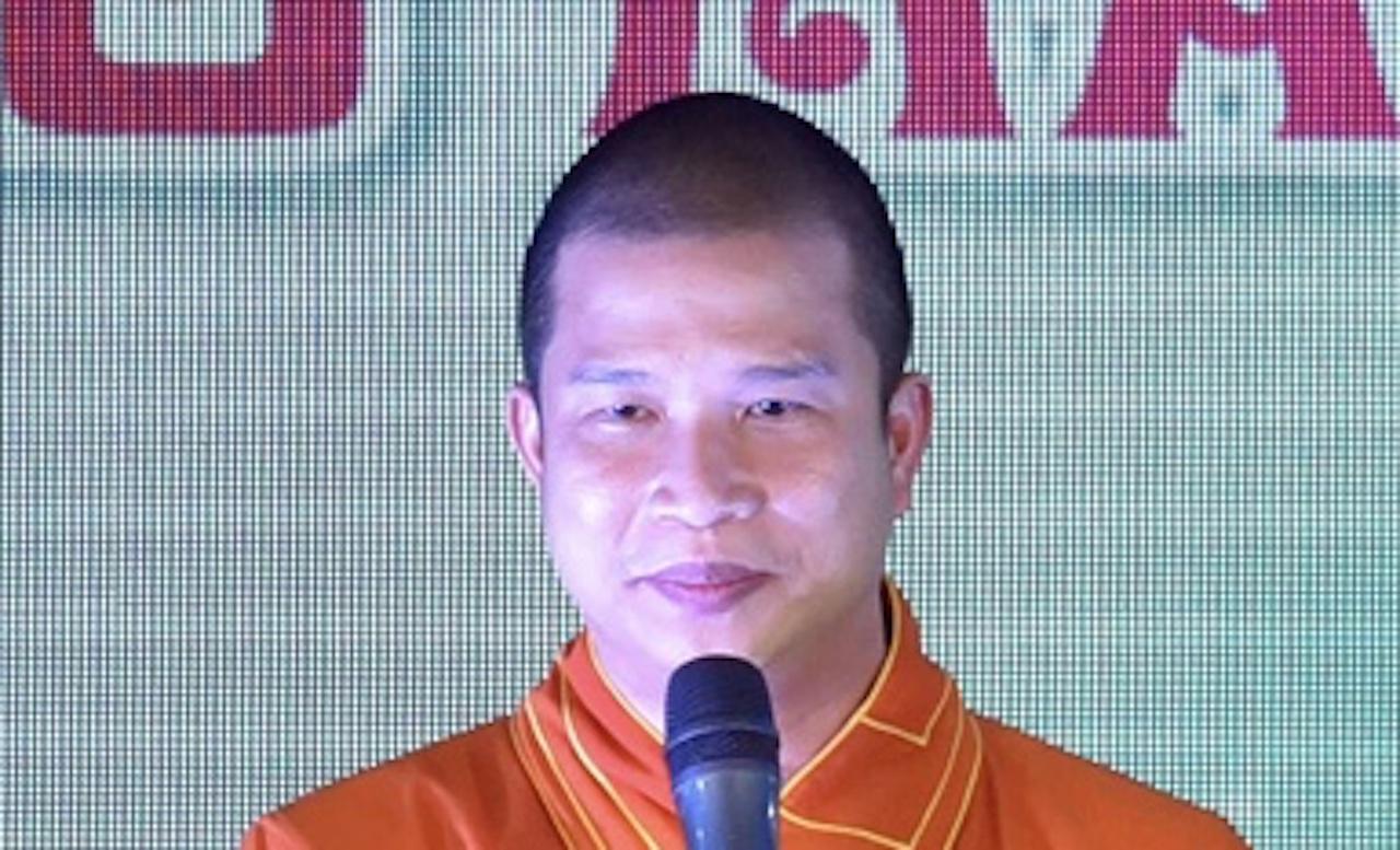 Ông Phạm Văn Cung bị bắt tạm giam để điều tra. Ảnh: Phatgiao.org.vn.