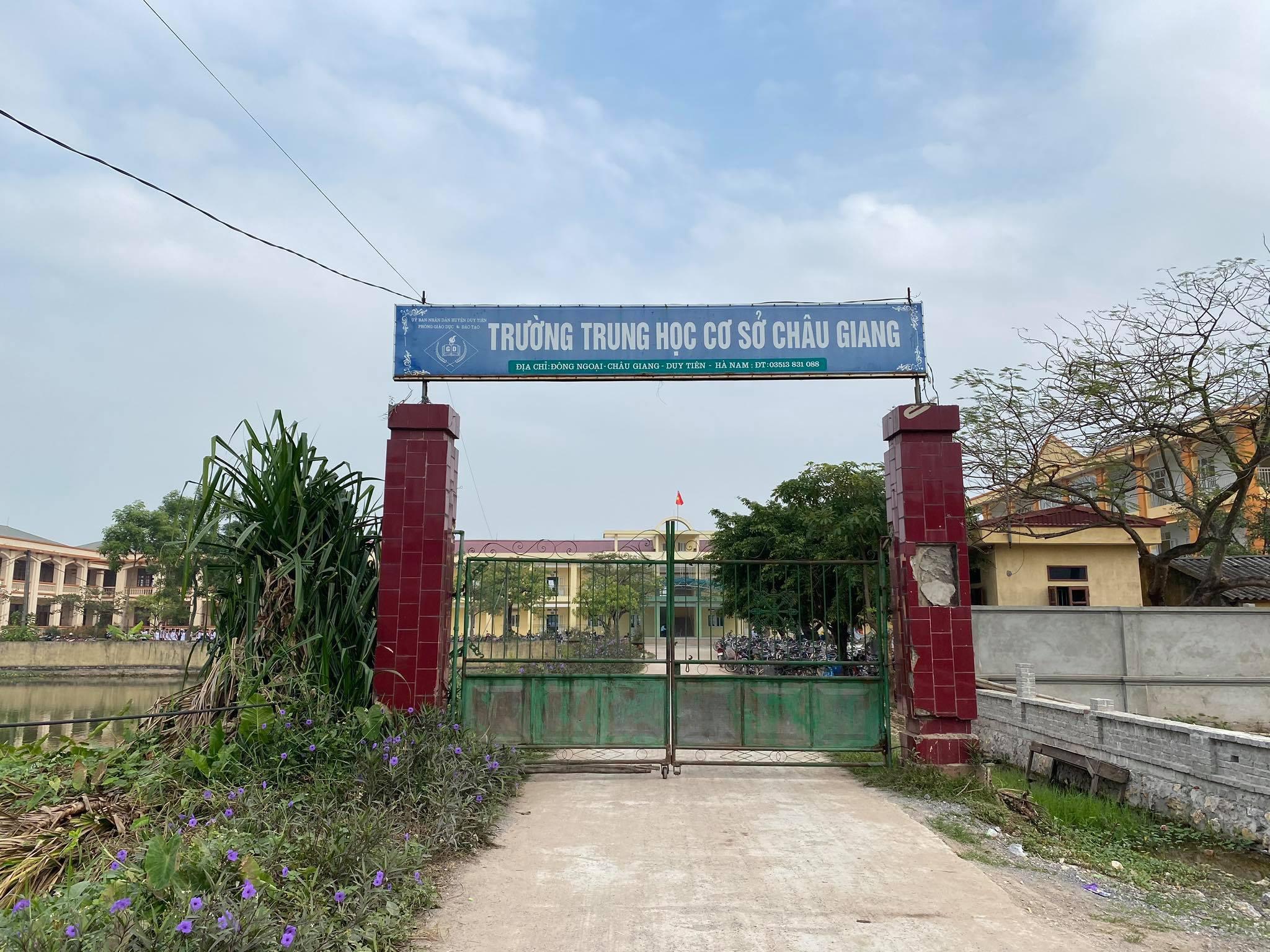 Trường THCS Châu Giang. Ảnh: Đ.X.
