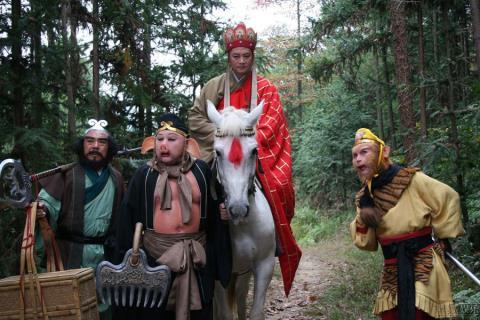 Tạo hình thầy trò Đường Tăng trong phim Tây du ký.