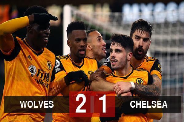 Kết quả Wolves 2-1 Chelsea: Thầy trò Lampard thua trận thứ 2 liên tiếp