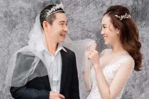 Bộ ảnh cưới hài hước, đậm chất 'cô Đẩu' của NSND Công Lý và cô dâu kém 15 tuổi