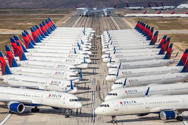 Tình trạng chung của các hãng bay trên thế giới: máy bay... đắp chiếu.
