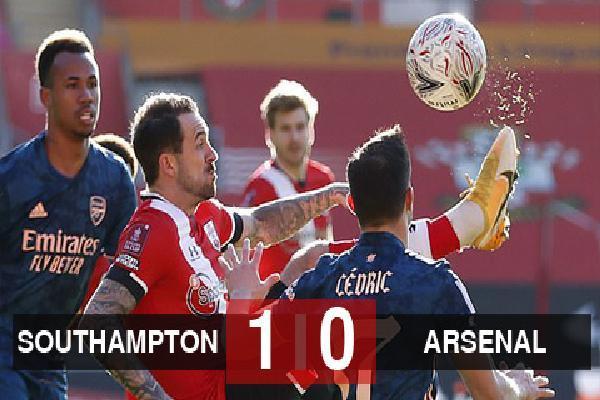 Kết quả Southampton 1-0 Arsenal: Pháo thủ trở thành cựu vương FA Cup