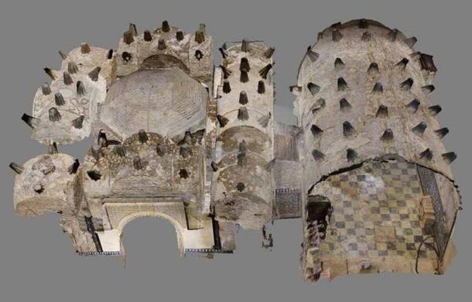 Ảnh đồ họa mô tả toàn bộ công trình cổ đại - Ảnh: Margarita de Alba.