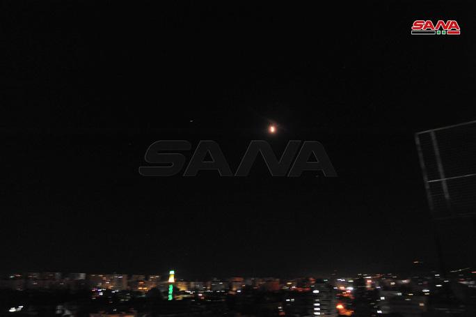 Hình ảnh cuộc không kích được SANA đăng tải. Ảnh: SANA